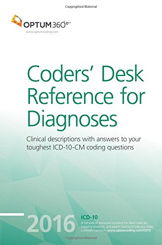 9781622540600: Coders` Desk Reference for Diagnoses (ICD-10-CM) 2016