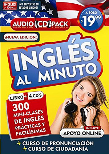 9781622636402: Inglés en 100 días - Inglés al minuto - Audio Pack (Libro + 4 CD's Audio) / English in 100 Days - English in a Minute Audio Pack