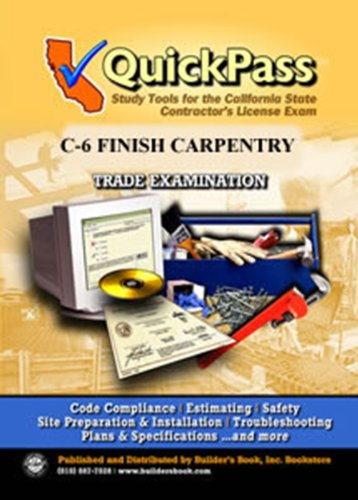 9781622700073: QuickPass Study Tools for the Finish Carpentry License Examination - CD ROM C-6