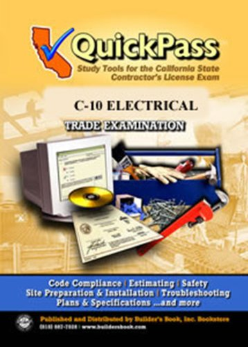 9781622700110: QuickPass Study Tools for the C-10 Electrical License Examination - CD-ROM