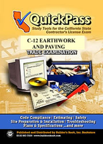 9781622700134: QuickPass Study Tools for the C-12 Earthworks and Paving License Examination - CD-ROM