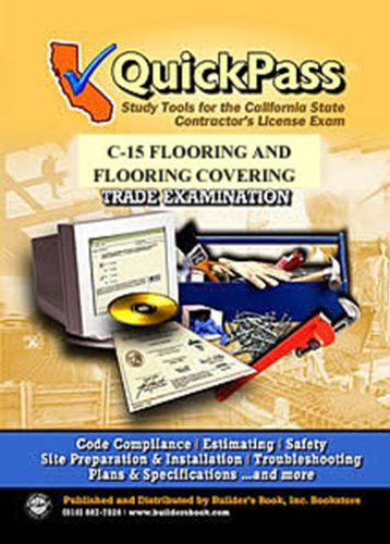 9781622700158: QuickPass Study Tools for the C-15 Flooring and Floor Covering License Examination - CD-ROM