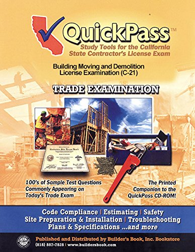 9781622700196: QuickPass Study Tools for the C-21, Building Moving and Demolition License Examination - CD-ROM