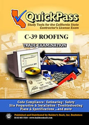 9781622700318: QuickPass Study Tools for the C-39 Roofing License Examination - CD-ROM