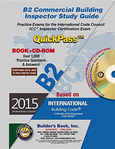 9781622701124: B2 Commercial Building Inspector QuickPass Study Guide Based on 2015 IBC