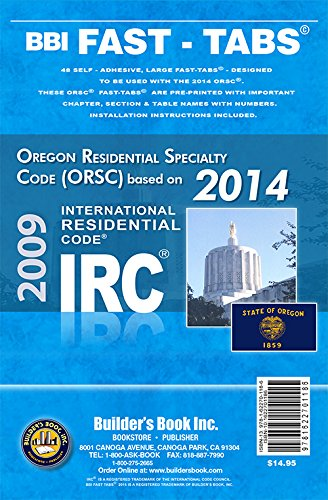 9781622701186: 2014 Oregon Residential Specialty Code Fast-Tabs