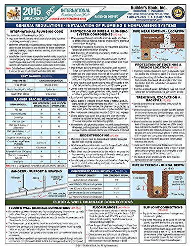 9781622701254: International Plumbing Code Quick-Card Based on the 2015 IPC