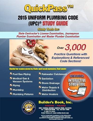 9781622701339: QuickPass™ 2015 Uniform Plumbing Code (UPC)® Study Guide