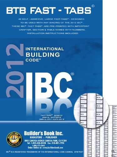 International Building Code (IBC)BTB Fast Tabs: Builder's Book