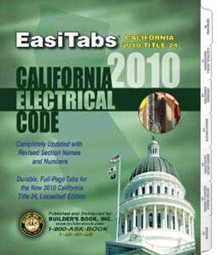 9781622709649: EasiTabs - 2010 California Electrical Code. Title 24 Part 3 Looseleaf Tabs