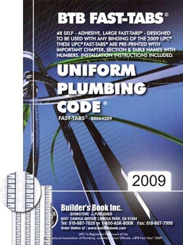 2009 Uniform Plumbing Code (UPC) Fast Tabs: Builder's Book