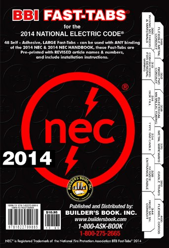 2014 National Electrical Code NEC Fast-Tabs For: Builder's Book