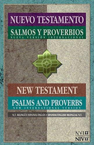 9781623370800: NVI/NIV Nuevo Testamento con Salmos y proverbios - Bilingue (Spanish Edition)