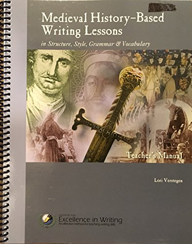 9781623412494: Medieval History-Based Writing Lessons (Teacher's Manual Only)