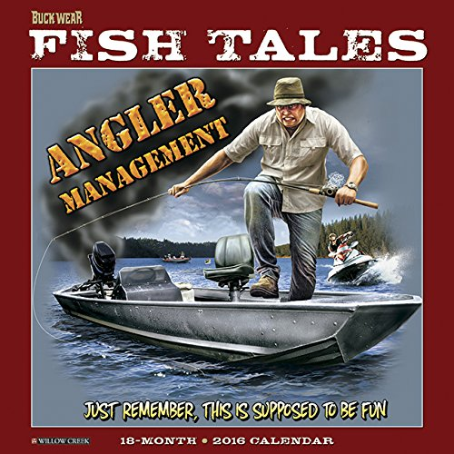 9781623436391: 2016 Buck Wear's Fishing Tales Wall Calendar