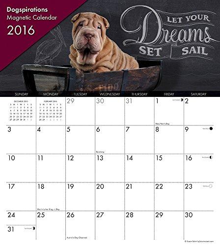 9781623439514: 2016 Dogspirations Magnetic Calendar