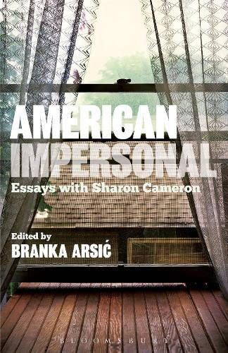 9781623564155: American Impersonal: Essays with Sharon Cameron
