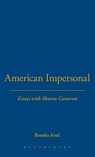 9781623567590: American Impersonal: Essays with Sharon Cameron