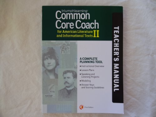 9781623620325: Common Core Coach for American Literature and Informational Texts II, Teacher's Manual