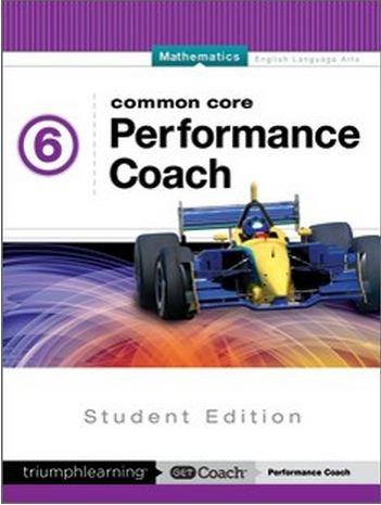 9781623628086: Common Core Performance Coach Mathematics Grade 6, Student Edition 2015