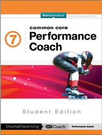9781623628093: Common Core Performance Coach Mathematics Grade 7, Student Edition 2015