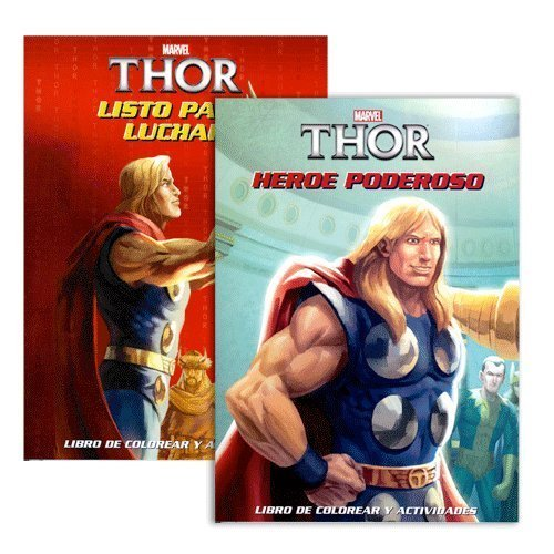 9781623690120: Marvel Bilingual Spanish English Thor Clasico Libro Para Colorear y Actividades (Assorted, Titles & Quantities Vary) Heroe Poderoso and / or Listo Para Luchar
