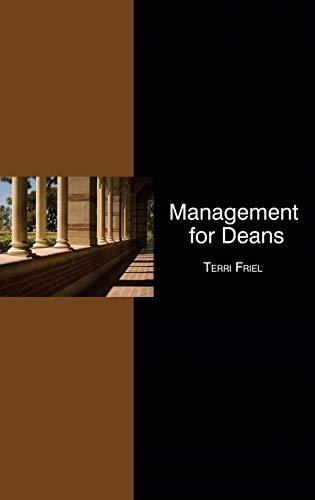 Management for Deans (Hc): Terri Friel