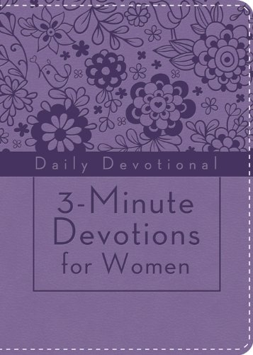 9781624166426: 3-Minute Devotions for Women: Daily Devotional (purple):