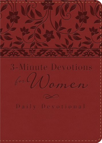 3-Minute Devotions for Women: Daily Devotional (bugundy):