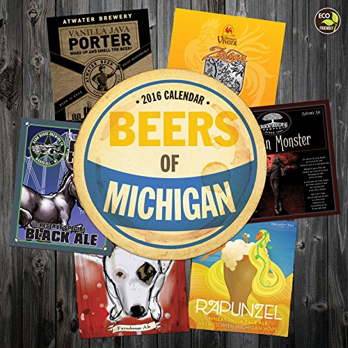 9781624380341: 2016 Beer Labels of Michigan Wall Calendar