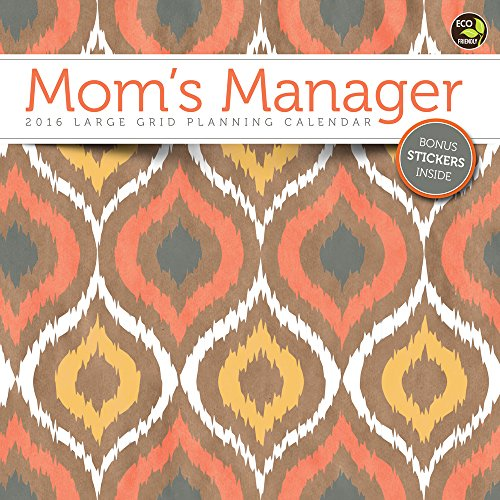 9781624381119: Moms Manager 2016 17-Month Calendar: Includes Stickers