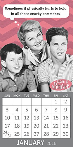 9781624383274: 2016 Leave It To Beaver Magnetic Calendar