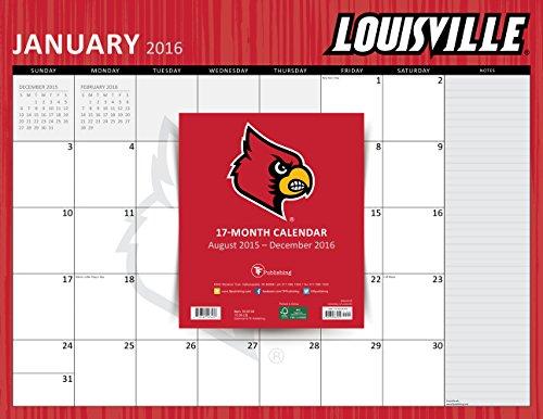 9781624383434: 2016 University of Lousiville 17 Month Desk Blotter Calendar