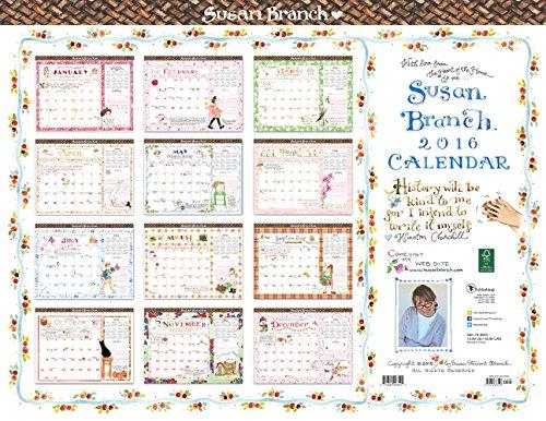 9781624383526: 2016 Susan Branch 12 Month Desk Blotter Calendar