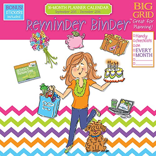 9781624385148: 2016 Reminder Binder 12x12 16 Month Planning Wall Calendar