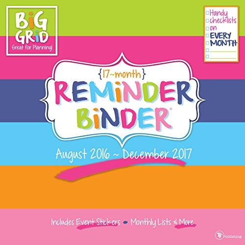 2017 Reminder Binder 17 Month Wall Calendar