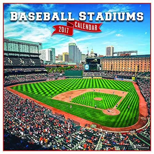 2017 Baseball Stadiums Wall Calendar