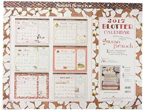 9781624389016: 2017 Susan Branch 12 Month Desk Blotter