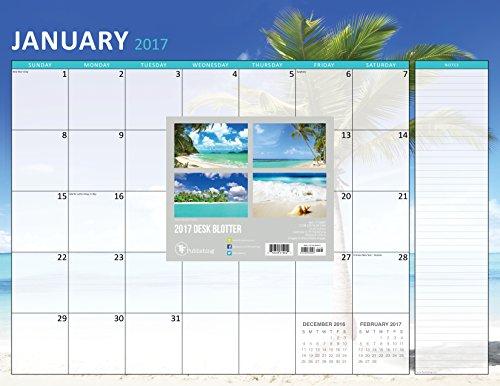 9781624389023: 2017 Tropical Beaches 12 Month Desk Blotter