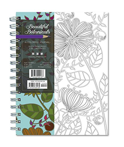 9781624389184: Beautiful Botanicals 140 Page Coloring Journal (Rainbow Collection Journals)