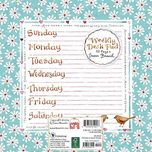 9781624389214: Susan Branch Weekly Desk Pad