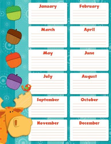 9781624420061: Carson Dellosa Moose and Friends Birthday Chart (114188)