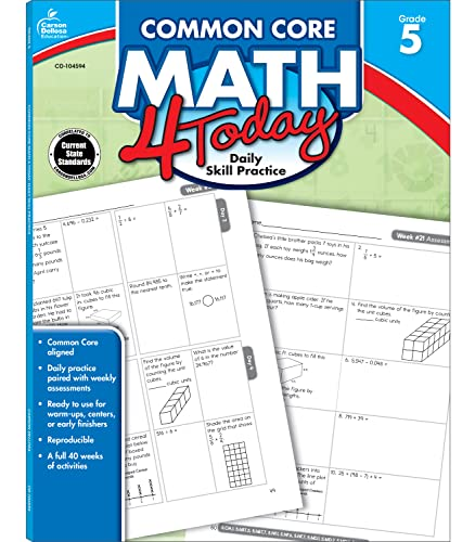 9781624420405: Common Core Math 4 Today, Grade 5