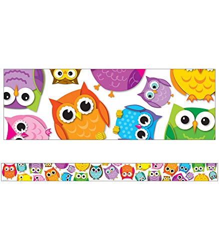 9781624420481: Colorful Owls Straight Borders