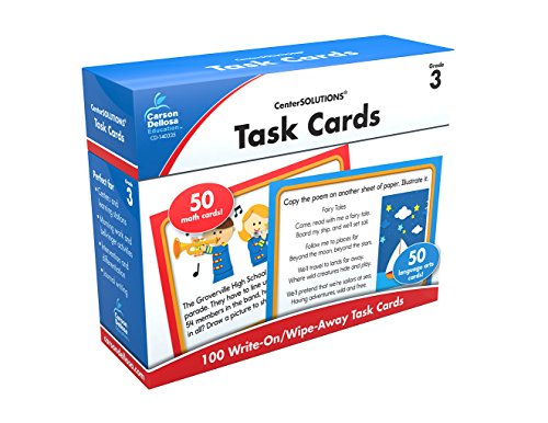 Task Cards Learning Cards, Grade 3 (Centersolutions for the Common Core): Carson-Dellosa Publishing