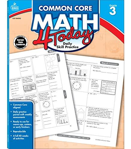 9781624426018: Common Core Math 4 Today, Grade 3: Daily Skill Practice (Common Core 4 Today)