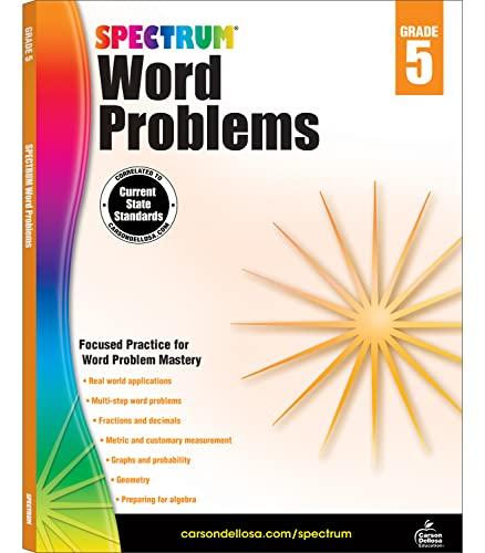 Spectrum Word Problems, Grade 5