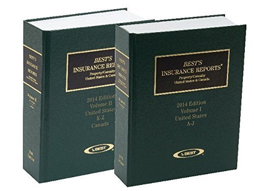 9781624430282: Best's Insurance Reports Property/Casualty United States & Canada 2014 Edition Volume I & Volume II