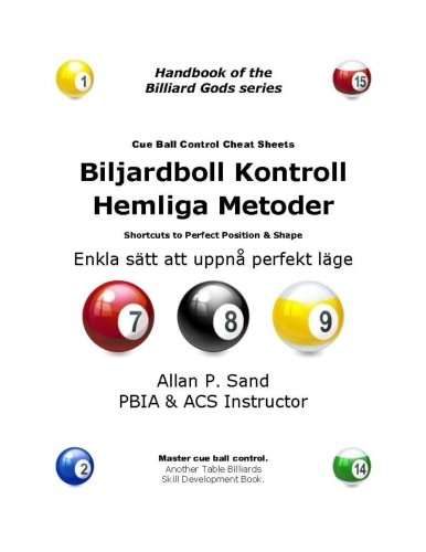 Cue Ball Control Cheat Sheets (Swedish): Easy: Allan P. Sand