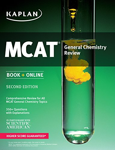 9781625231192: Kaplan MCAT General Chemistry Review: Book + Online (Kaplan Test Prep)
